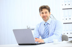 Closeup of employee in the office working Royalty Free Stock Image