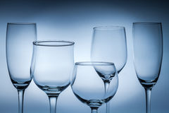 Closeup of empty glasses Stock Photo
