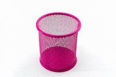 Closeup empty pink pail. Stock Image