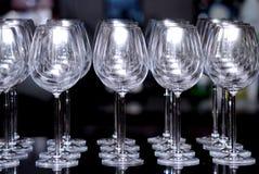 Closeup empty wine glass Stock Photo