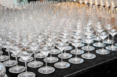 Closeup empty wine glass Royalty Free Stock Photo