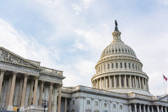 Closeup ensamma Dayli för detalj för kupol för USA-KapitoliumBuiding Washington DC Royaltyfri Bild