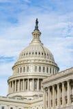 Closeup ensamma Dayli för detalj för kupol för USA-KapitoliumBuiding Washington DC Royaltyfri Fotografi