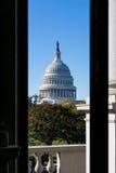 Closeup ensamma Dayli för detalj för kupol för USA-KapitoliumBuiding Washington DC Arkivbilder