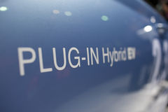 Closeup Of An Environmental Hybrid Car Stock Photos