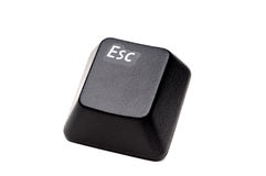 Closeup of an Escape button Stock Image