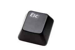 Closeup of an Escape button stock image
