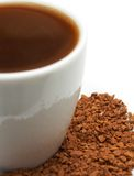 Closeup of espresso coffee with granules Stock Image