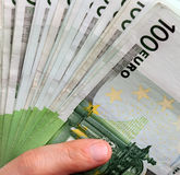 Closeup euro banknotes Royalty Free Stock Photo