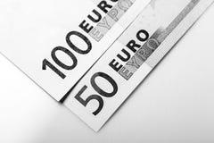 Closeup of Euro Banknotes Royalty Free Stock Photo