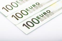 Closeup of Euro Banknotes Royalty Free Stock Photos
