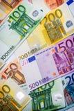 Closeup of Euro Banknotes Royalty Free Stock Image