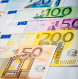 Closeup of Euro Banknotes Royalty Free Stock Image