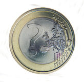 Closeup of euro coin Royalty Free Stock Image