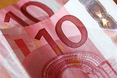 Closeup of euro currency Royalty Free Stock Photography