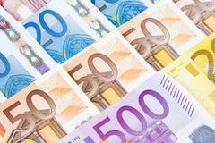 CLOSEUP OF EURO - EUROPEAN UNION BANKNOTES Stock Images