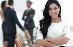 Free Closeup. Executive Woman In The Office Royalty Free Stock Images - 115282469
