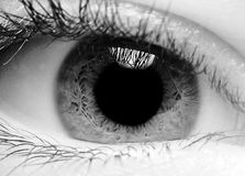 Closeup of an eye stock images