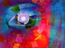 Closeup of eye abstract Stock Photo