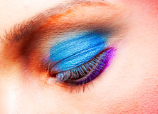 Closeup of eye luxury party makeup Stock Photography