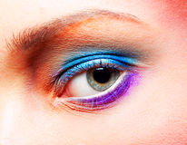 Closeup of eye luxury party makeup Royalty Free Stock Photos