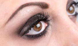 Closeup of eye makeup Royalty Free Stock Photos