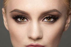 Closeup of eye makeup Stock Photos