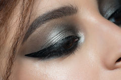 Closeup of eye with makeup Royalty Free Stock Photography