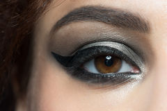 Closeup of eye with makeup Royalty Free Stock Images