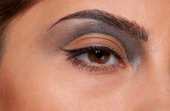 Closeup eye makeup zone of doll woman Royalty Free Stock Photography