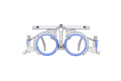 Closeup of eye test glasses. On white background Stock Images
