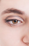 Closeup eye of young woman Stock Photography