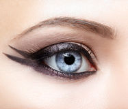 Closeup eye-zone make-up Royalty Free Stock Image
