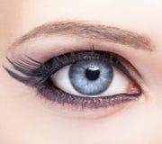 Closeup eye-zone make-up Stock Images