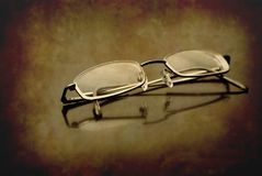 Closeup of Eyeglasses Stock Photos