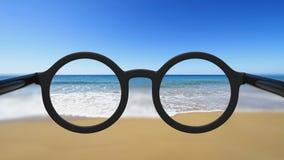 Closeup on eyeglasses Royalty Free Stock Images