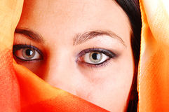 Closeup of eyes of girl. Royalty Free Stock Photography
