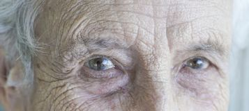 Closeup eyes of a senior person Royalty Free Stock Image
