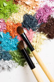 Closeup of eyeshadows Royalty Free Stock Photos