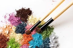 Closeup of eyeshadows Royalty Free Stock Images