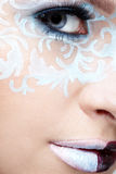Closeup of eyezone bodyart Stock Photos