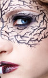 Closeup of eyezone bodyart Royalty Free Stock Images