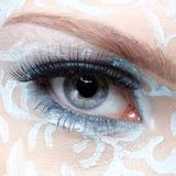 Closeup of eyezone bodyart Stock Photography