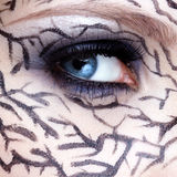 Closeup of eyezone bodyart Stock Photography