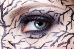 Closeup of eyezone bodyart Stock Images