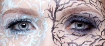 Closeup of eyezone bodyart Royalty Free Stock Photography