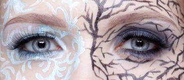 Closeup of eyezone bodyart Royalty Free Stock Photography