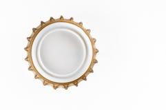 Closeup för ölflaskalock arkivbilder