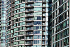 Closeup för bostads- byggnader Arkivbild