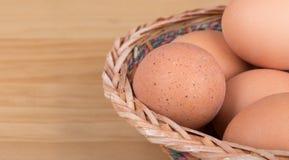 Closeup för bruna ägg Arkivfoton